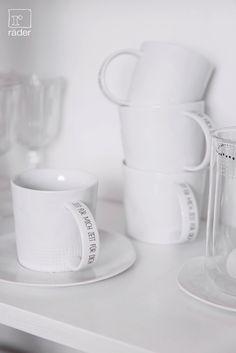 Zeit für mich - Lieblingstasse von räder aus feinem Porzellan.  http://www.raeder-onlineshop.de/Kueche-Tafel/Kaffee-Tee/Tassen-Glaeser/
