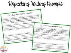 unpacking writing prompts, great florida fourth grade teacher blog