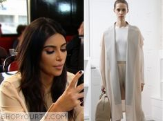KUWTK: Season 10 Episode 4 Kim's Pale Pink Coat