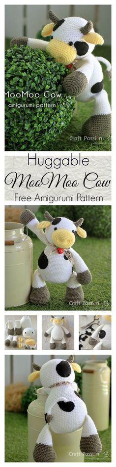 MooMoo Cow Amigurumi - Free Pattern & Tutorial