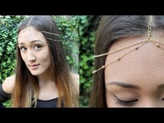 DIY: Chain Head Piece (Headchain) If i had a nice middle part i would so do this