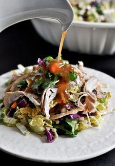 Thai Crunch Chicken Salad | howsweeteats.com