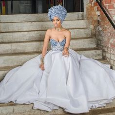 TOP New post modern african traditional wedding dresses 2015 visit wedbridal. African Wedding Attire, African Attire, African Dress, African Weddings, Nigerian Weddings, African Style, Disney Wedding Dresses, Bridal Dresses, Wedding Gowns