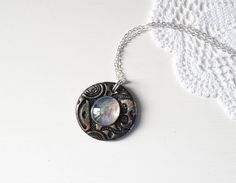 #necklace #locket #pendant #bronze #polymerclay #glass #jewelry #handmade #handmaderevolution #veracreations #madeinitaly #etsy