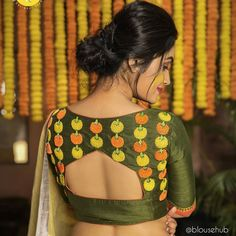 New & Latest boat neck blouse designs 2019 - New Blouse Designs Stylish Blouse Design, Blouse Back Neck Designs, Fancy Blouse Designs, Designer Blouse Patterns, Saree Blouse, Saree Fashion, Fashion Blouses, Indian Fashion, Women's Fashion