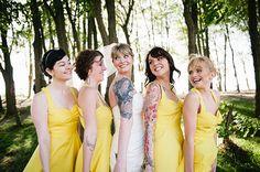 Rustic Yellow Coastal Wedding