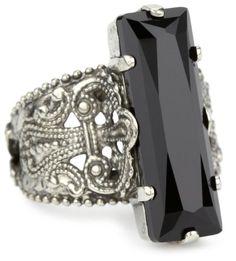 """Sorrelli """"French Blush"""" Crystal Elongated Adjustable Silvertone Ring Sorrelli http://www.amazon.com/dp/B005OUCM70/ref=cm_sw_r_pi_dp_EZuNub1WK4GEM"""