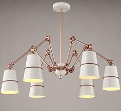 TYDXSD Modern minimalist living room chandelier creative Nordic restaurant personality study art bedroom spider retractable iron chandeliers to the maximum 120140162mm  dwd07456 rose gold 3wled -- To view further for this item, visit the image link. (Note:Amazon affiliate link)