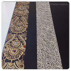 Sneak peak part2 of the canvas I am working on #nishel #henna #hennaart #hennadesign #mehndi #mehndidesign #home #homedecor #interiordesign #decor #creations #blackcanvas #canvas #wallart #hennacanvas #gold #rainbow #gems #art #wallart #wallhangings #craft
