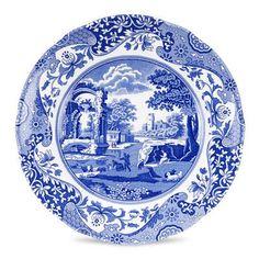 "Spode Blue Italian 8"" Salad Plate"