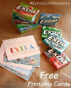 Leave a little something EXTRA for those who give Extra every day. With free printable cards!  #ExtraGumMoments #ad