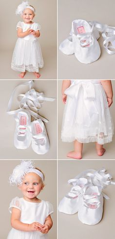 For your little ballerina, the Tallie dress and slippers! Christening Gowns For Girls, Girls Baptism Dress, Happy Pics, Happy Pictures, Blessing Dress, Little Ballerina, Silk Ribbon, Beautiful Gowns, Lds