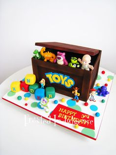 Toy story - so cute xx Bolo Toy Story, Toy Story Baby, Toy Story Theme, Toy Story Cakes, Toy Story Birthday Cake, 3rd Birthday Cakes, 4th Birthday Parties, Boy Birthday, Birthday Ideas