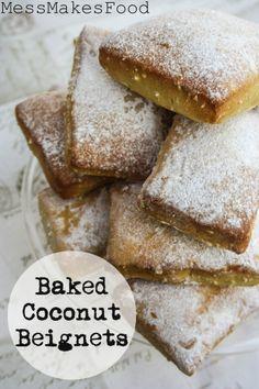 Baked Coconut Beignets 682x1024 Baked Coconut Beignets #SundaySupper