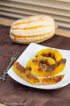 Sweet and Spicy Baked Delicata Squash #12WksWinterSquash