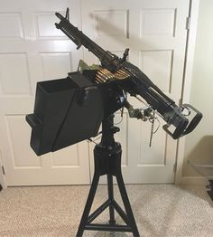 m60_machinegun Transferable Saco Defense M60D sitting in a Mk64 cradle mount. 600 round ammo can on the side.