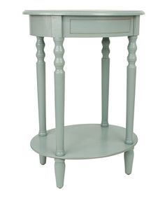 Another great find on #zulily! Antique Blue Oval Accent Table #zulilyfinds