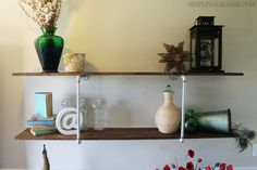 Make your own industrial-inspired shelving unit with Elmer's ProBond Advanced. This will easily become your new favorite piece of décor at home! Tutorial via @sadiejane.