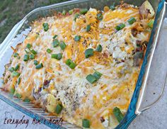 Twice baked red potato casserole - I will just substitute with veggie bacon.