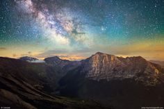 A beautiful night at 1800 meters high, in the Sibillini Mountains National Park.