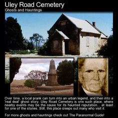 Ulay Road Cemetery. A tiny cemetery with a big haunted reputation... but have those legends come from a prank played back in the 1950s? Read more here: http://www.theparanormalguide.com/blog/uley-road-cemetery