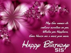 Happy Birthday Sister Image Quotes