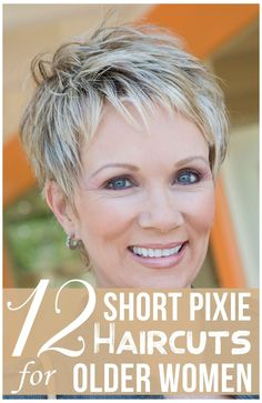Short Hair Over 60, Short Thin Hair, Short Hair Older Women, Haircut For Older Women, Short Hair With Layers, Short Hairstyles For Women, Short Hair Styles, Pixie Haircut Styles, Curly Short