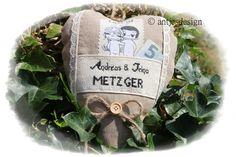 Geldgeschenk Hochzeit - LIEBE IST...  - Vintage von Antjes Design auf DaWanda.com