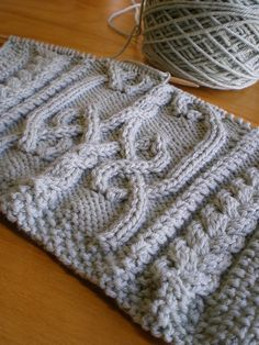 Aran afghan square by AuntieMM, via Flickr