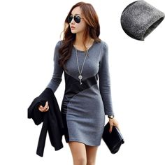 New Spring  2017 Bodycon Casual Party Cocktail Mini Dress Long Sleeve PU Leather //Price: $22.03 & FREE Shipping //     #hashtag2
