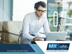 FACTURACIÓN ELECTRÓNICA. Para disfrutar de los servicios que en MYSuite brindamos, solo necesita contar con acceso a internet e ingresar a nuestro portal para contratar y realizar sus facturas en cualquier instante. Le invitamos a comunicarse con nosotros al teléfono 01 (55) 1208-4940 o puede visitar nuestra página en internet http://www.mysuitemex.com/, para conocer nuestro trabajo y comenzar a obtener los beneficios que ofrecemos. #facturaciónelectrónica