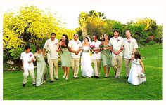Cuban wedding; note the men are wearing Guayabera shirts. Available in various colors, fabrics and styles. These popular shirts have been around for more than 100 years, and they never go out of style!