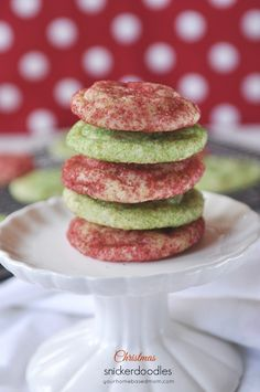 Christmas Snickerdoodles--the same great taste with a holiday twist!