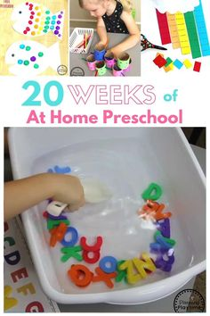 Homeschool Preschool Activities - Easily preschool your child at home with done for you preschool lesson plans and activities.