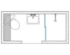 3x8 bathroom layout with corner toilet for added leg room. Towel dry rack could go inside door on left. Low profile sink, with window/mirror over
