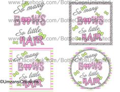DIY Printable So many Bows so little Hair Shrinky by MaddieZee, $1.50