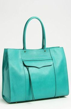 Add some color. Rebecca Minkoff M.A.B. Leather Tote.