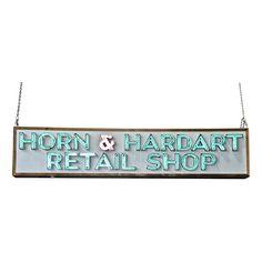 Vintage Horn & Hardart Retail Shop Neon Sign  at Provenance Architecturals in Philadelphia, PA, www.phillyprovenance.com