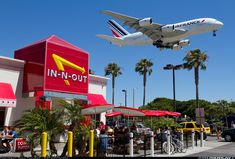 A380 over In-N-Out (LAX)