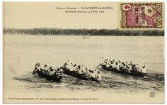 Guyane française - Saint Laurent du Maroni, course de canots, 14 juillet 1905