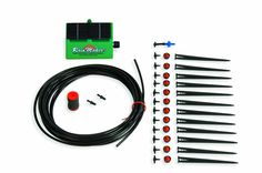 solar powered drip system for raised bed!!!  Flower House SOL-K12 Solar RainMaker Automatic Watering System