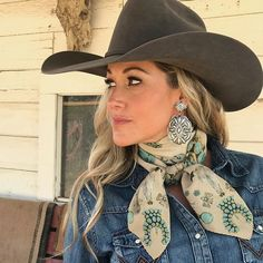 Squash Blossomed – Fringe ScarvesYou can find Cowgirl style and more on our website. Rodeo Outfits, Cowgirl Style Outfits, Cute Outfits, Cowgirl Fashion, Women's Western Fashion, Classy Outfits, Western Chic, Western Wear, Cowgirl Mode