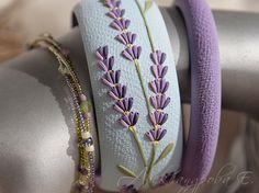 Bracelet set lavande - 3pcs - polymère bracelets floraux - lilas fleurs bracelet perles du chapelet Multi - bracelet bleu-ciel- par AleksPolymer sur Etsy https://www.etsy.com/fr/listing/248681747/bracelet-set-lavande-3pcs-polymere