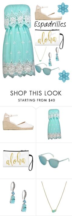 """""""Espadrilles"""" by foxxyslang ❤ liked on Polyvore featuring Castañer, POLICE, Stephen Dweck and Kendra Scott"""