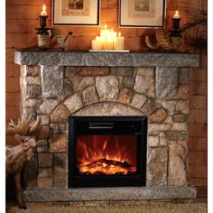 Miraculous 46 Best Stone Electric Fireplace Images In 2018 Electric Interior Design Ideas Gentotthenellocom