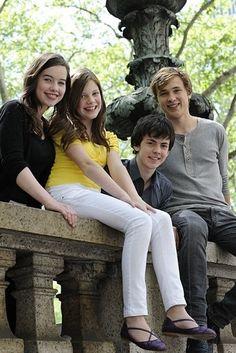 The Pevensies! L to R: Anna Popplewell (Susan), Georgie Henley (Lucy), Skandar Keynes (Edmund), William Moseley (Peter).
