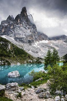 Alpine Lake Photograph by Yuri Santin