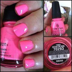 Shocking Pink - China Glaze - Nail Art Gallery by NAILS Magazine