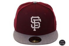 Hat Club Exclusive New Era 59Fifty San Francisco Giants Fitted Hat - 2T Maroon, Heather Gray