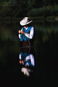 Fly Fishing by Ben Blankenburg. Perfect shot of a perfect life.